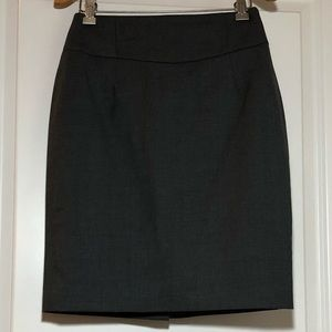 J. Crew Pencil Skirt In Gray Super 120s Wool